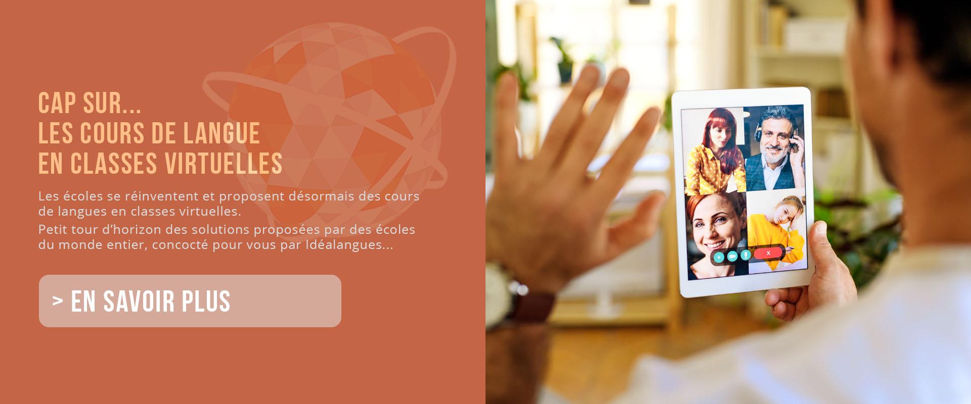 cours de langue classes virtuelles slider
